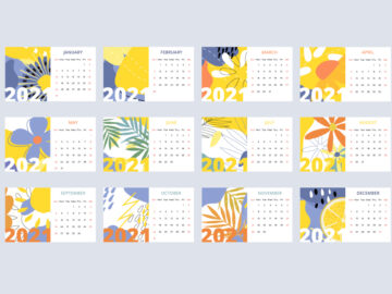Vector Calendar 2021 Free Download