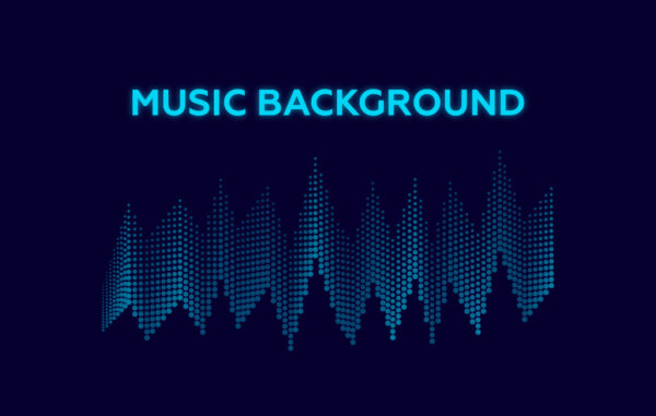 Music equalizer background free vector