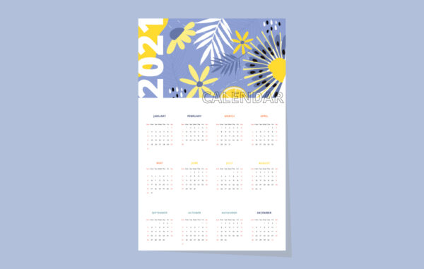 Abstract Calendar 2021 Vactor Free Download