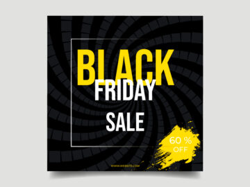 Black Friday Sale Vector Banner Free Download