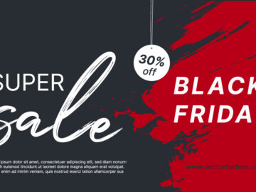 Black Friday Sale Vector Poster Free Download