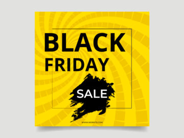Black Friday Sale Vector Template Free Download