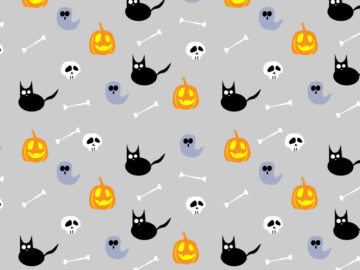 Cute Halloween Seamless Pattern Free Download
