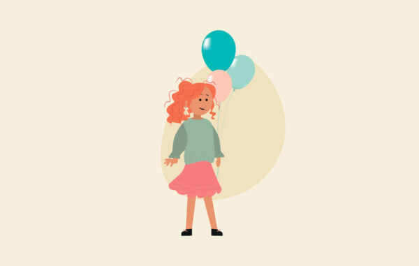 Girl With Balloons Illustration Free Download