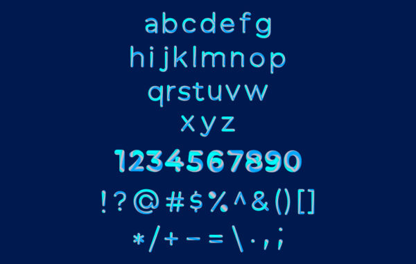 Gradient Minuscular Letters And Symbols Free Download