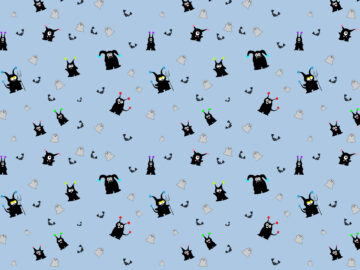 Halloween Cute Seamless Pattern Free Download