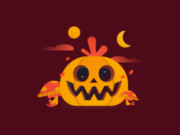 Halloween Pumpkin Vector Background Free Download