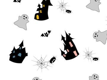 Halloween Seamless Pattern With Ghosts Free Download