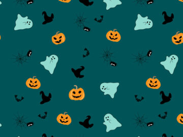 Hallowen Vector Seamless Pattern Free Download
