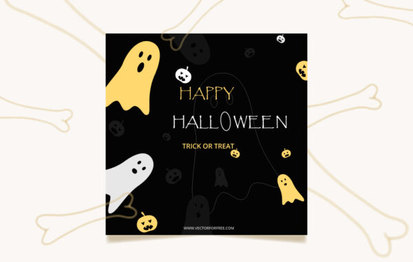 Happy Halloween Social Cover Template Free Download