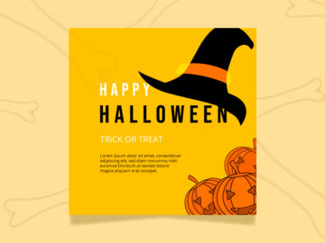Happy Halloween Social Media Template Free Download