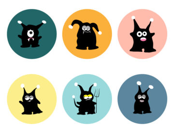 Monsters Stickers Set Free Download