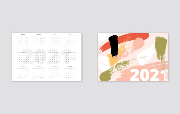 Pocket Abstract Calendar Free Download