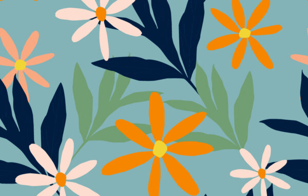 Seamless Colorful Floral Pattern Free Download