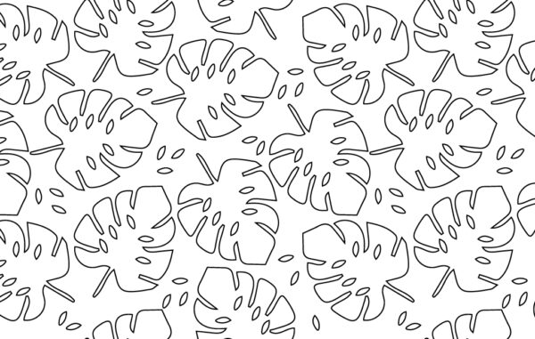 Seamless Outline Leaves Pattern Free Download