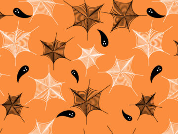 Seamless Pattern Halloween Spidernet Free Download