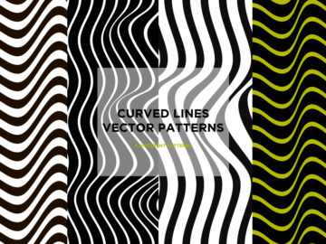 Set-Of-4-Curved-Lines-Vector-Patterns Free Download
