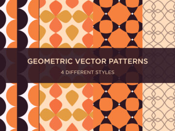 Set Of 4 Geometric Vector Patterns Free Download
