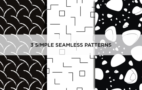3 Simple Seamless Patterns Free Download