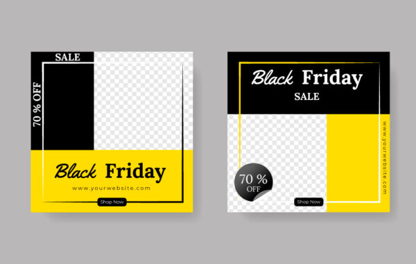 Black Friday Sale Vector Templates Free Download