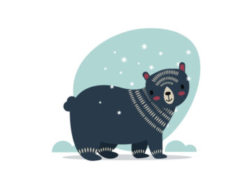 Blue Bear Vector Free Download