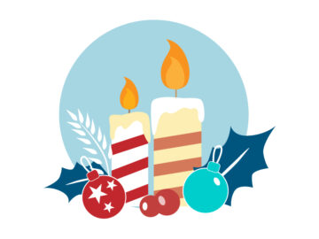 Candles-Decor-Vector-Illustration Free Download