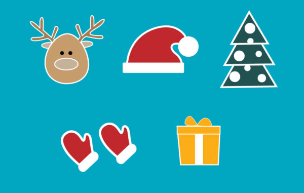 Christmas New Year Vector Symbols Set Free Download