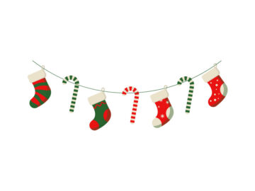 Christmas Socks And Candy Illustration Free Download