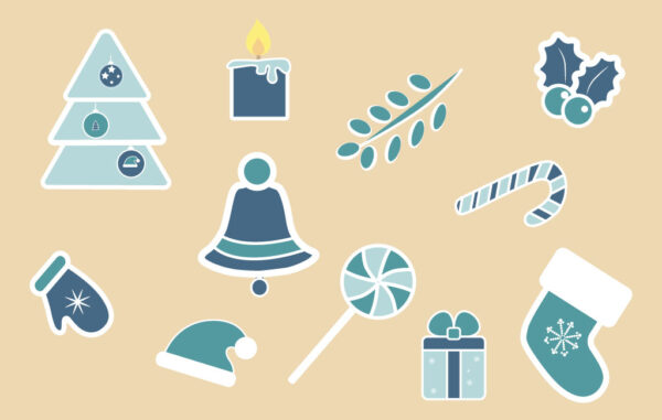 Christmas Stickers Set Free Download