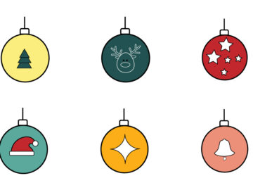 Christmas Toys Vector Illustration Free Download