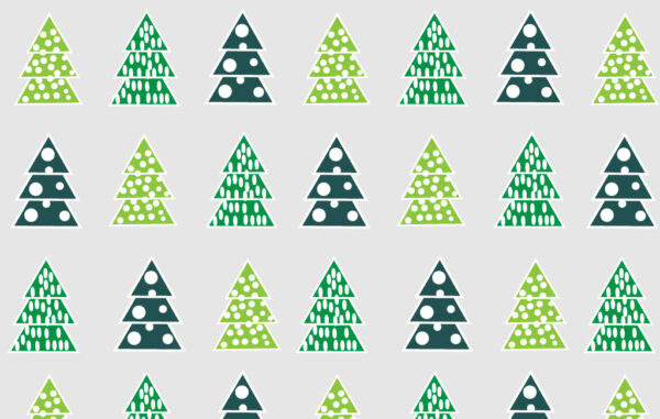 Christmas Tree Seamless Pattern Free Download
