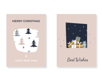 Christmas Vector Greeting Cards Free Download
