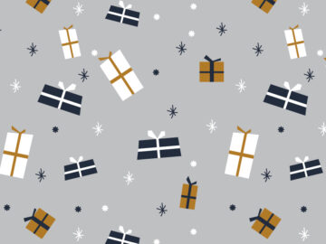 Christmas presents seamless pattern Free Download