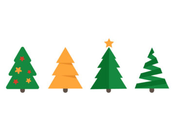 Christmas trees vector illustration Free Download