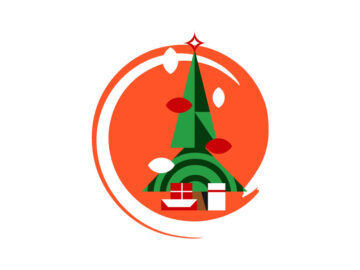 Christmass Tree Vector Illustration Free Download
