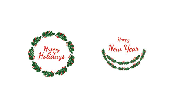 Hand Drawn Christmas Wreath Free Download