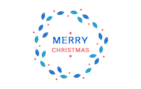 Merry Christmas Round Frame Free Download