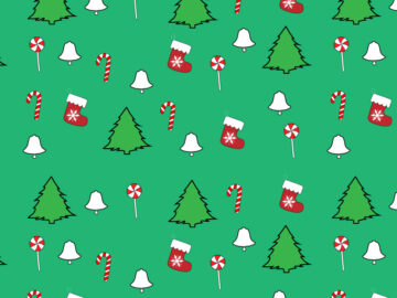 New Year Colorful Seamless Pattern Free Download