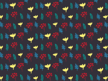 Seamless pattern with leaves Free Download
