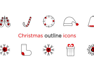 Christmas Outline Icons Free Download