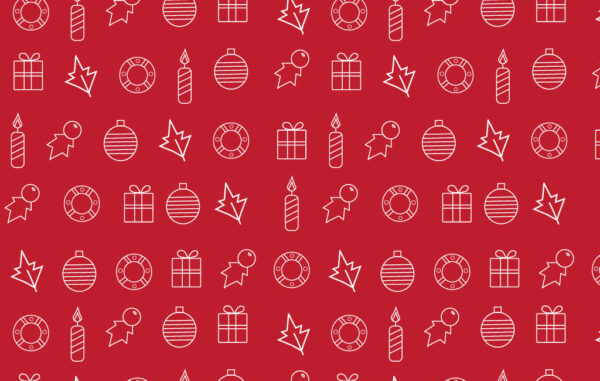 Christmas Red Seamless Pattern Free Download