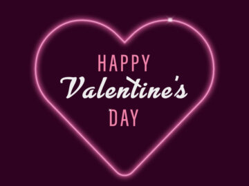 Neon Happy Valentine's Day Free Download