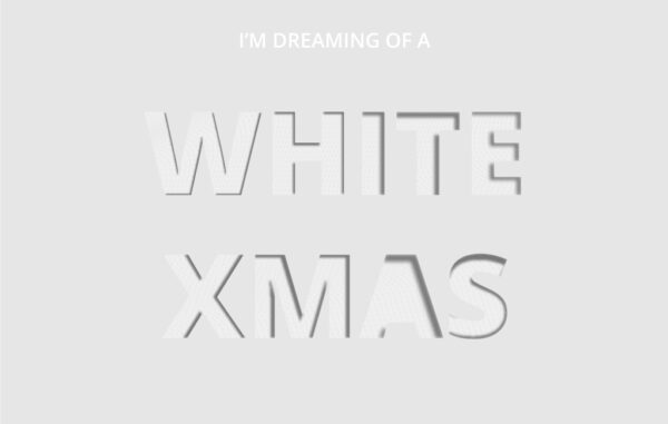 White Christmas Card Free Download