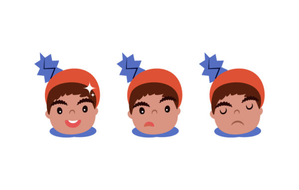 Kid Face Emotion Vector Illustration Free Download