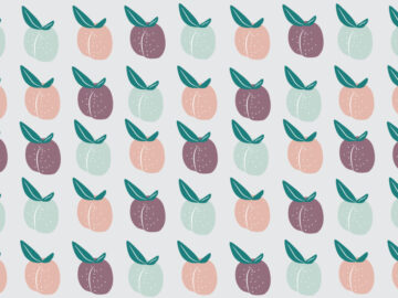 Plum Fruit Seamless Pattern Free Download