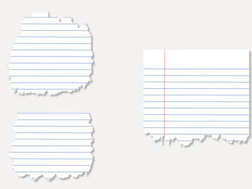 Torn Notebook Paper Vector Free Download