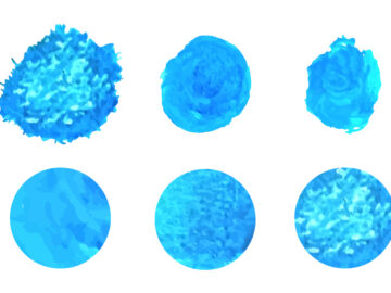 Watercolor Blue Round Splashes Vector Set Free Download
