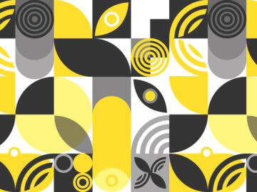 Yellow And Gray Geometric Seamless Pattern Free Download