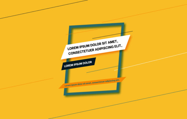 Yellow Banner Free Download