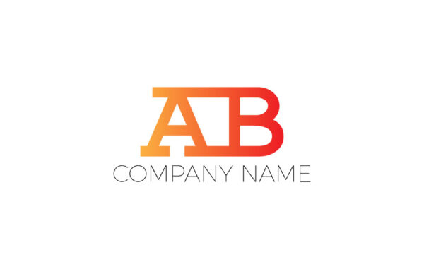 AB Letters Logo Design Free Download